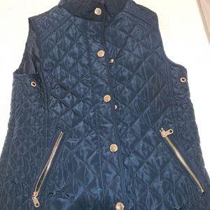 Zara Girls navy blue vest